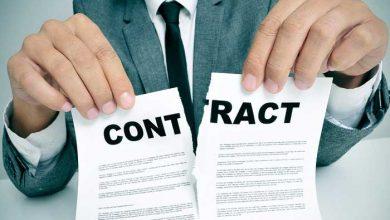 تصویر خاتمه قرارداد